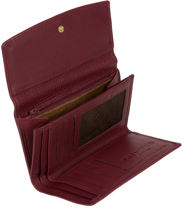 'Tulip' Plum Leather Tri-Fold Purse image 3