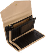 'Yew' Black & Champagne Leather Tri-Fold Purse image 3