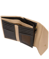'Yew' Black & Champagne Leather Tri-Fold Purse image 4