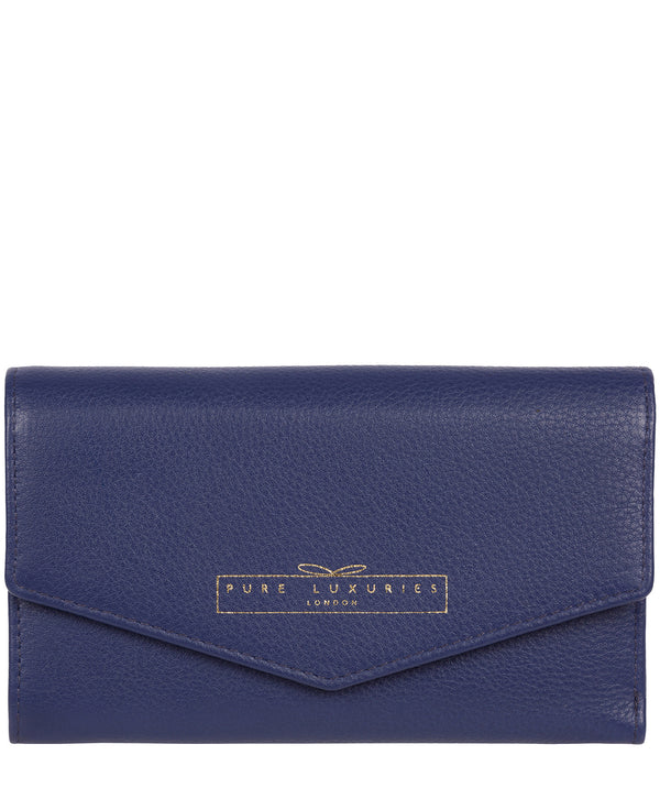 'Yew' Cobalt Blue Leather Tri-Fold Purse image 1