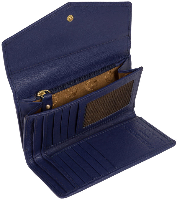 'Yew' Cobalt Blue Leather Tri-Fold Purse image 3