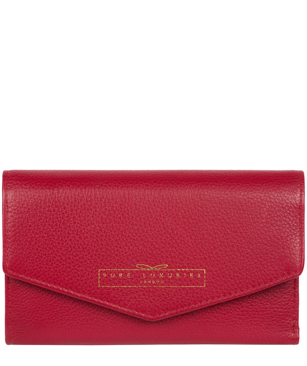 'Yew' Garnet Leather Tri-Fold Purse image 1