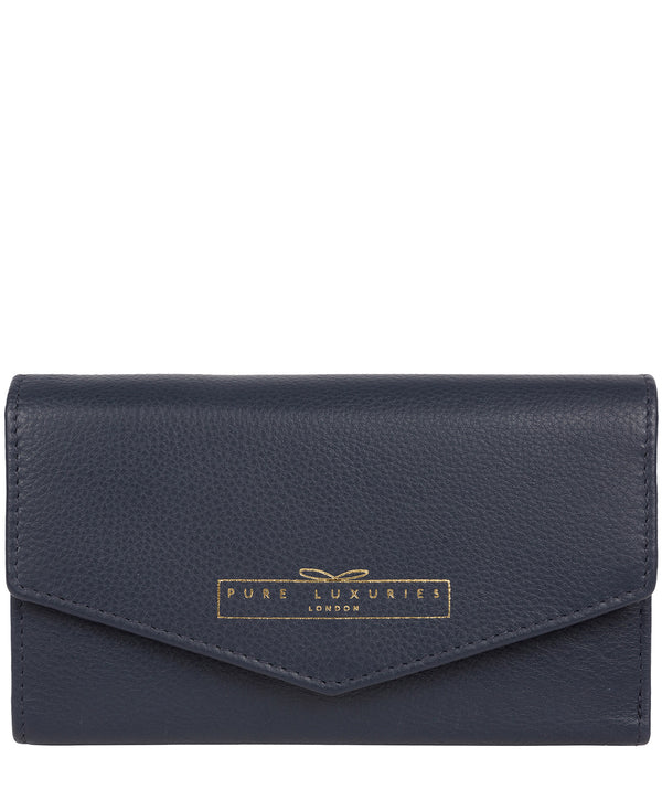 'Yew' Midnight Navy Leather Tri-Fold Purse image 1