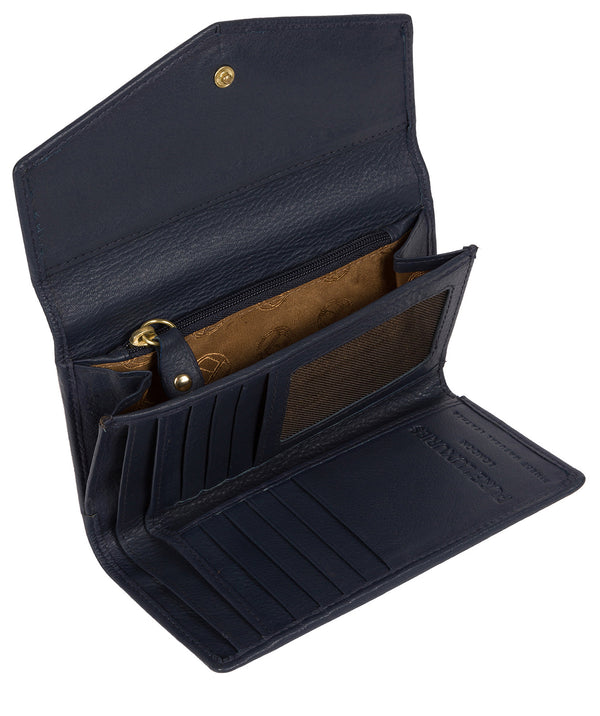 'Yew' Midnight Navy Leather Tri-Fold Purse image 3