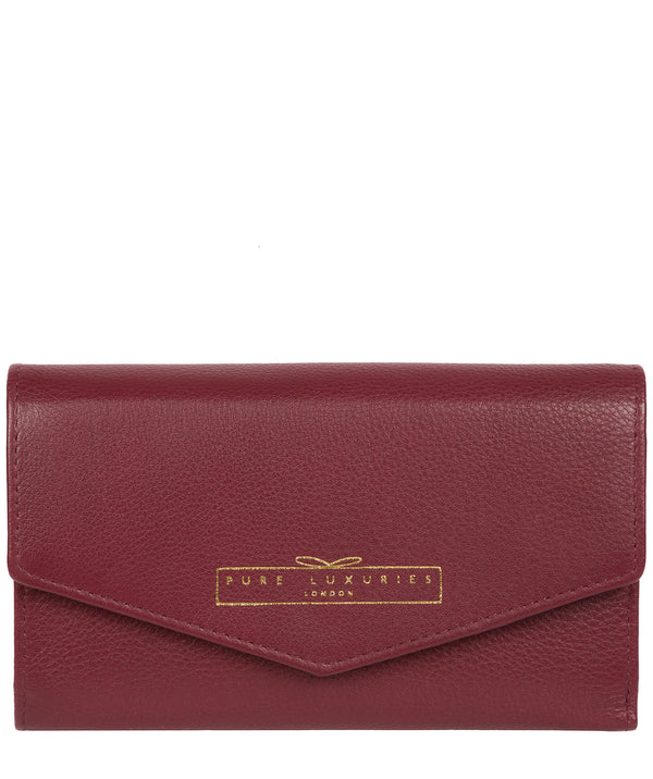 'Yew' Plum Leather Tri-Fold Purse image 1