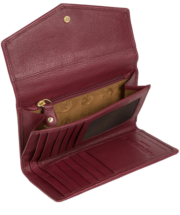 'Yew' Plum Leather Tri-Fold Purse image 3