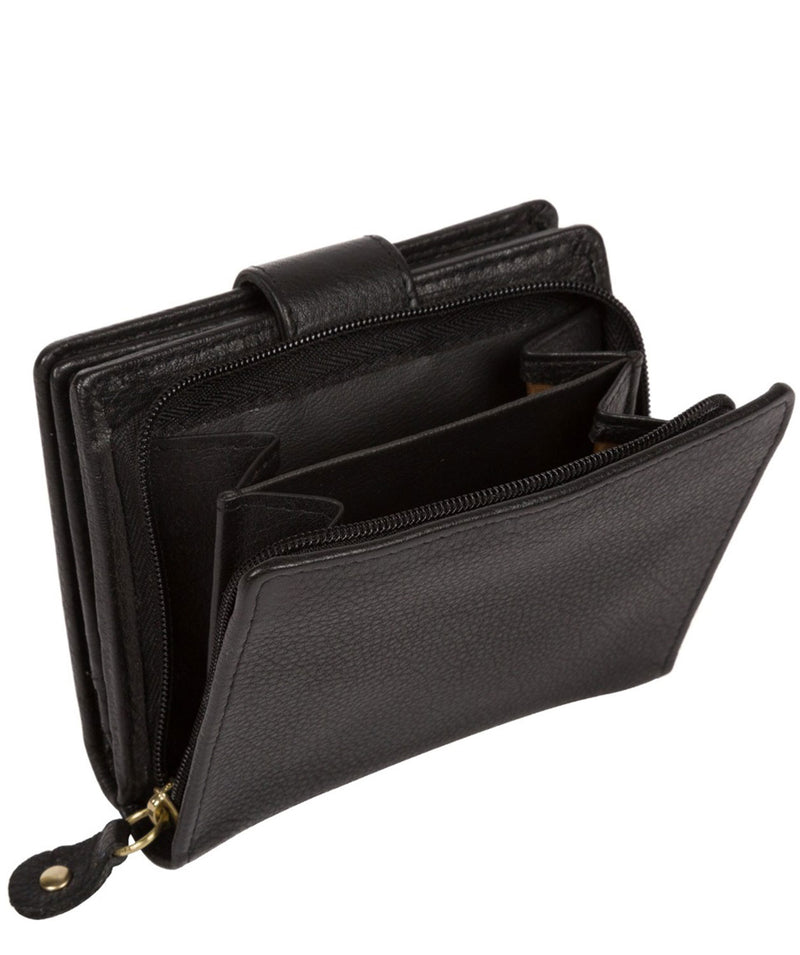'Maple' Black Leather RFID Purse