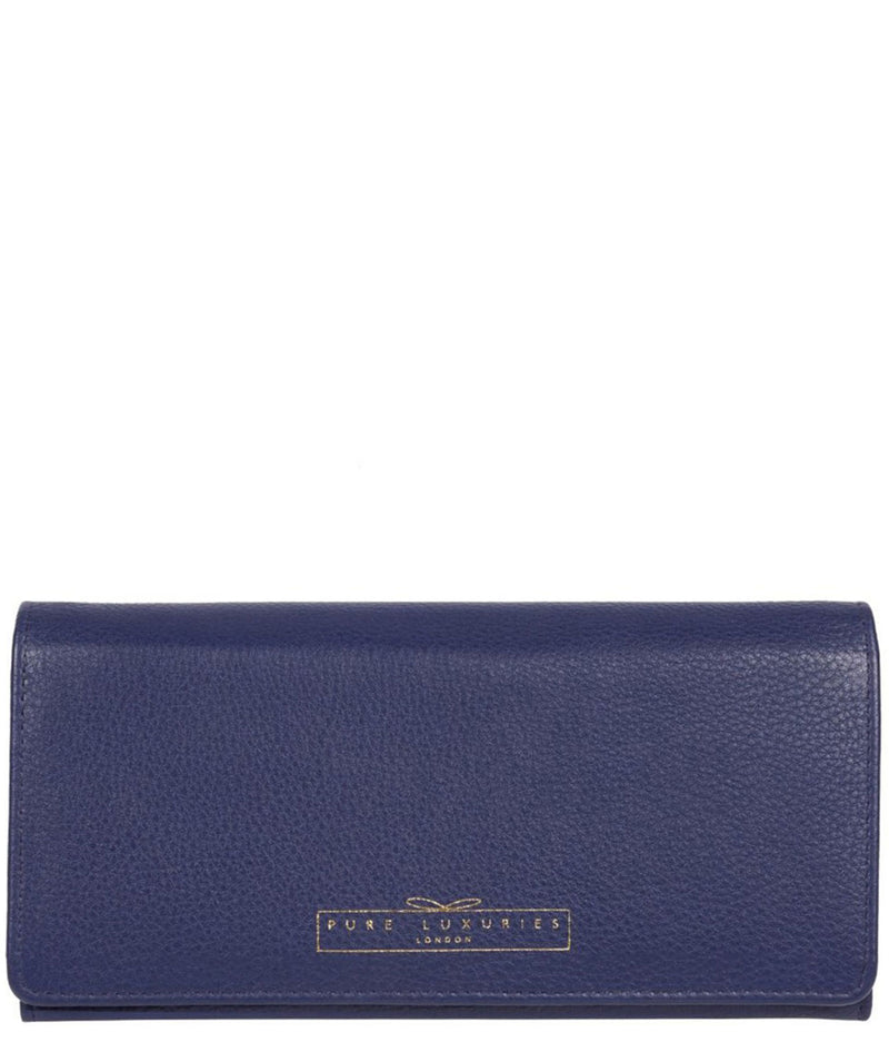 'Holly' Cobalt Blue Leather RFID Purse