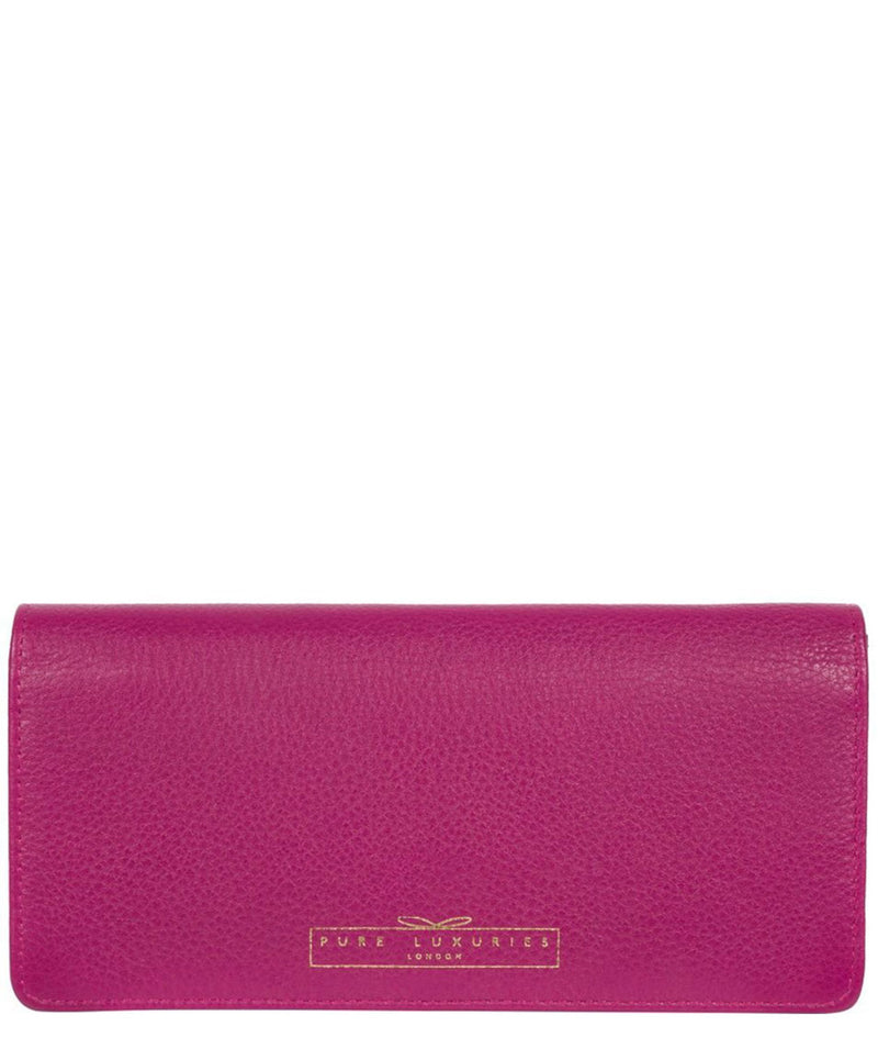 'Holly' Orchid Leather RFID Purse