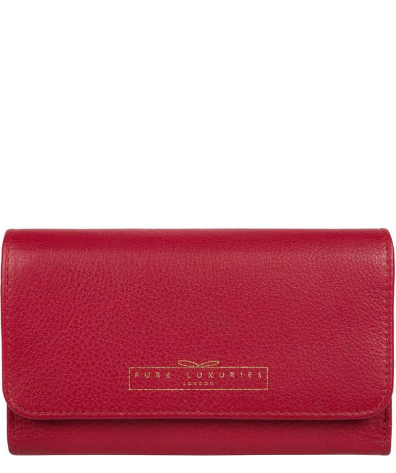 'Freesia' Garnet Leather RFID Purse