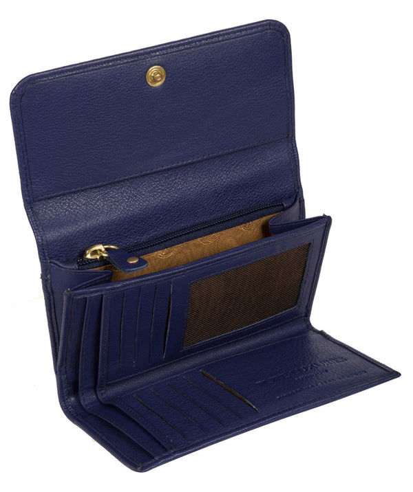 'Freesia' Cobalt Blue Leather RFID Purse
