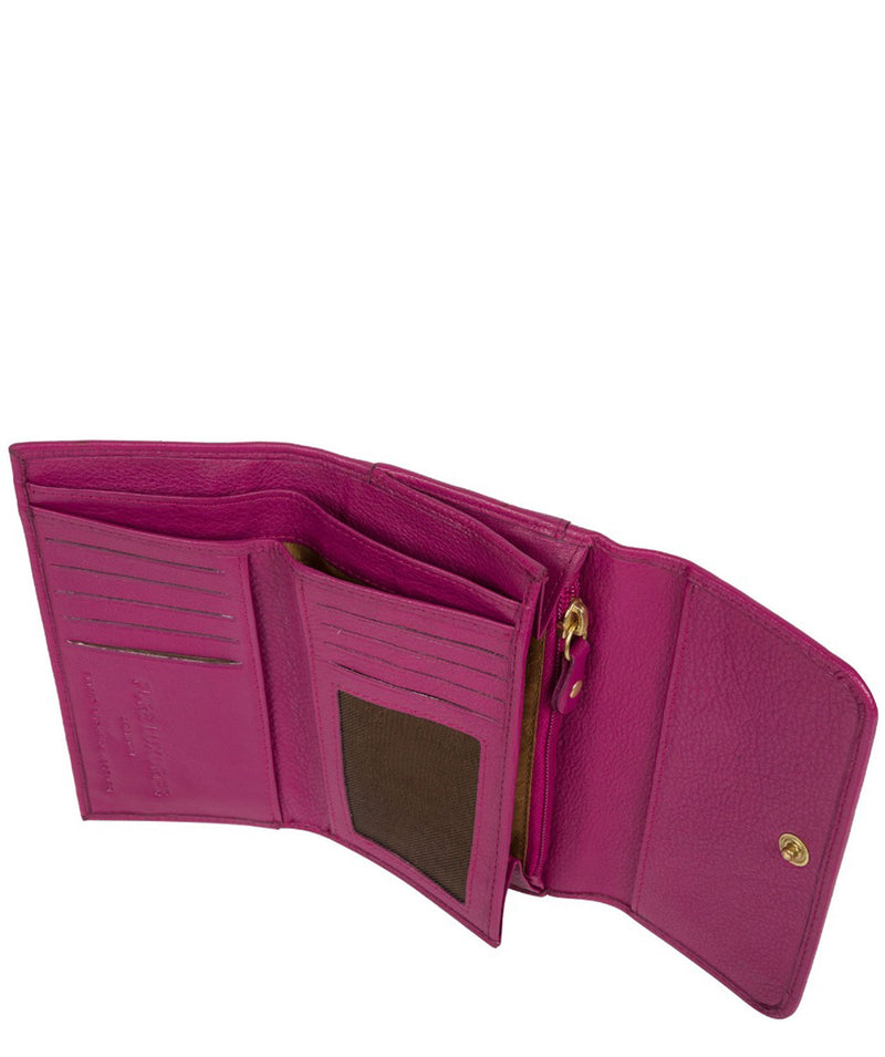 'Freesia' Orchid Leather RFID Purse