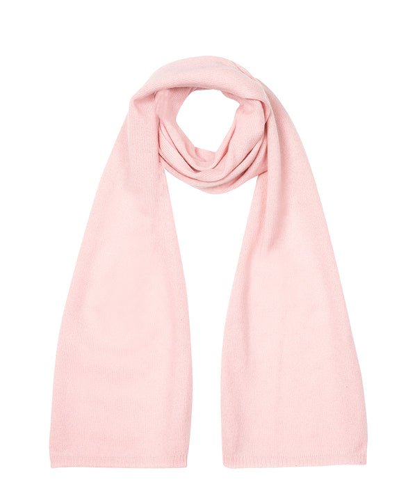 'Cambridge' Blush Pink 100% Cashmere Scarf
