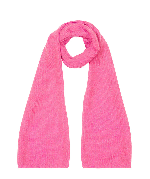 'Cambridge' Carnation Pink 100% Cashmere Scarf