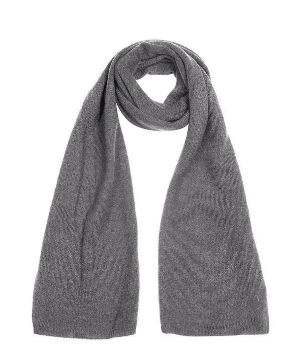 'Cambridge' Grey 100% Cashmere Scarf