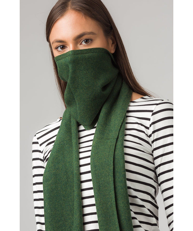 'Cambridge' School Green 100% Cashmere Scarf