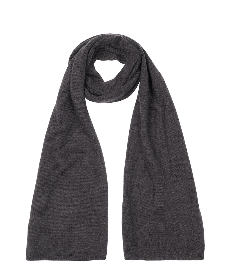 'Cambridge' Slate 100% Cashmere Scarf