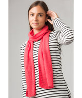 'Cambridge' Watermelon 100% Cashmere Scarf