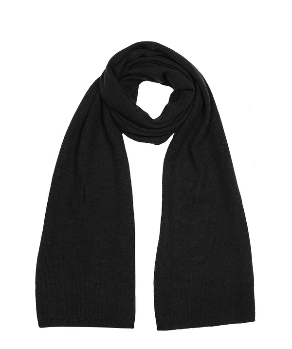 'Oxford' Black 100% Cashmere Scarf