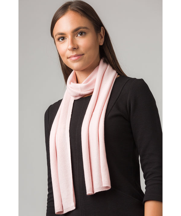 'Oxford' Blush Pink 100% Cashmere Scarf