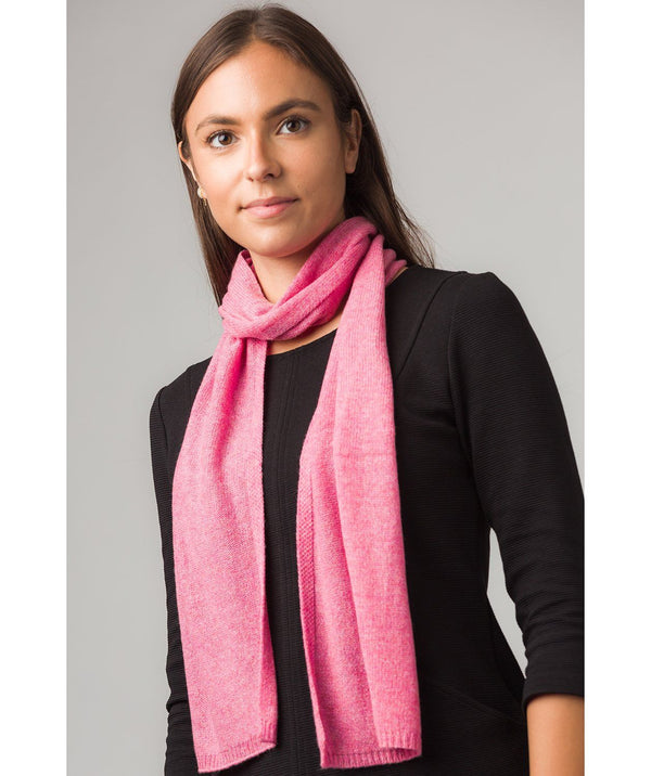 'Oxford' Carnation Pink 100% Cashmere Scarf Pure Luxuries London