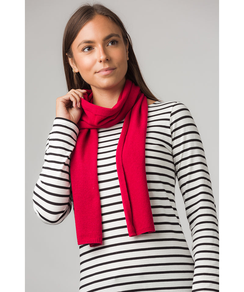 'Oxford' Chilli Red 100% Cashmere Scarf