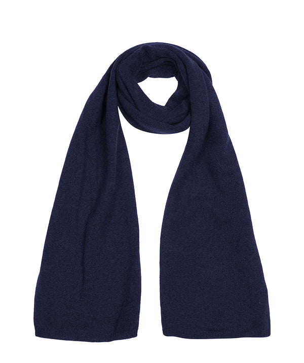 'Oxford' Dark Navy 100% Cashmere Scarf