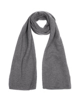'Oxford' Grey 100% Cashmere Scarf
