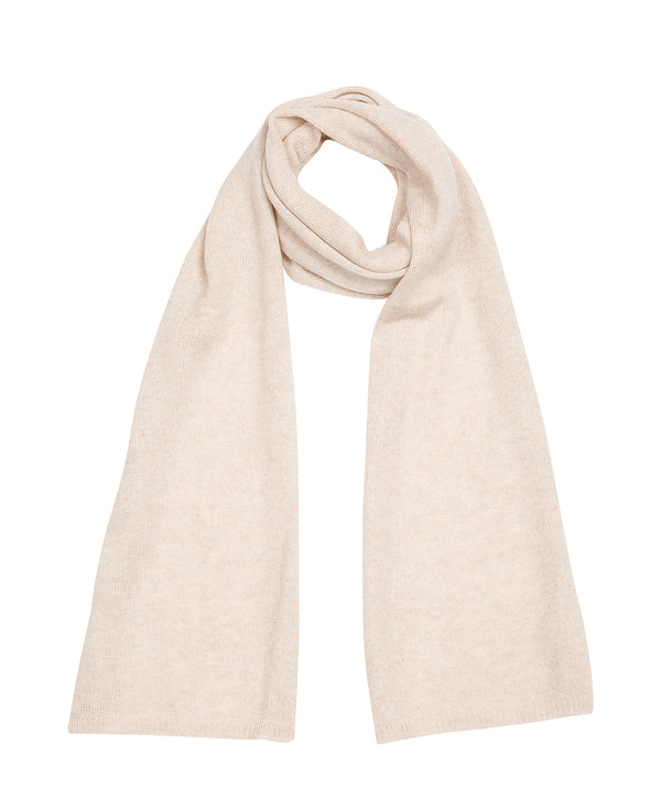 'Oxford' Oatmeal 100% Cashmere Scarf