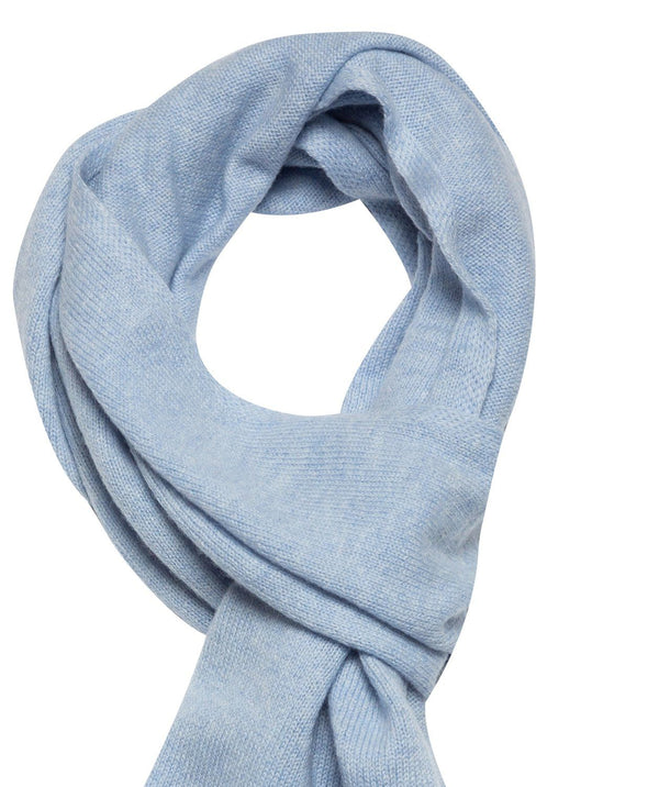 'Oxford' Powder Blue 100% Cashmere Scarf Pure Luxuries London