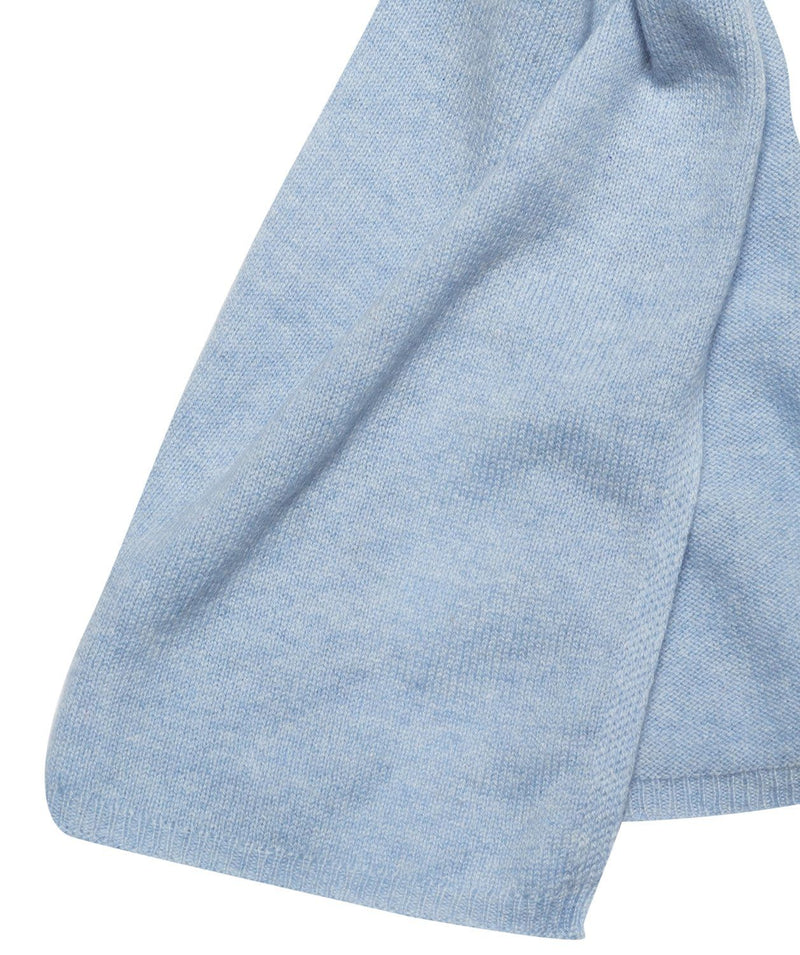 'Oxford' Powder Blue 100% Cashmere Scarf
