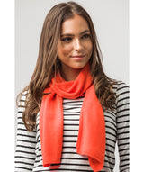 'Edinburgh' Burnt Orange Cashmere and Merino Wool Scarf