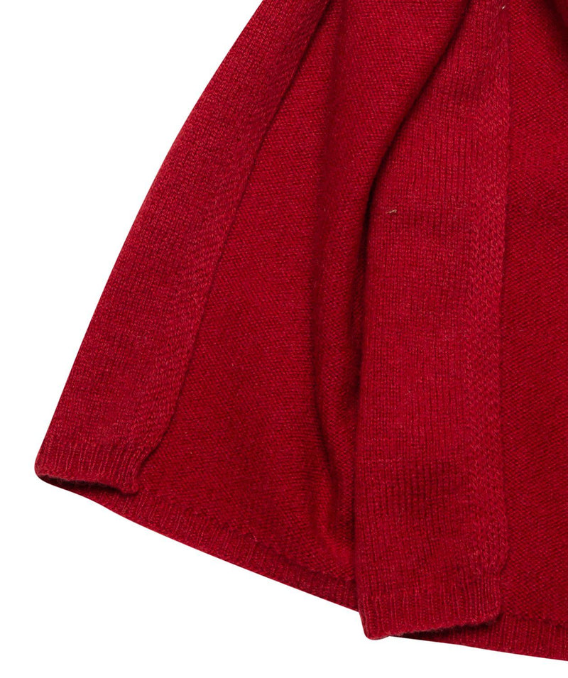 'Edinburgh' Chilli Red Cashmere and Merino Wool Scarf