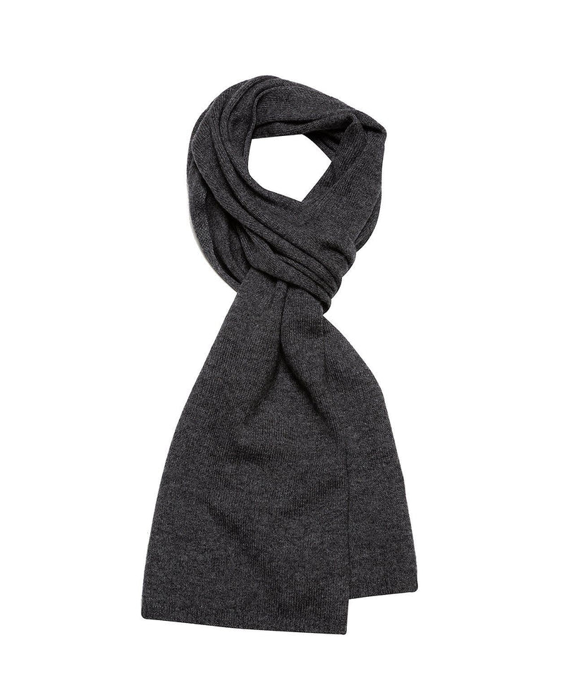 'Edinburgh' Slate Cashmere and Merino Wool Scarf