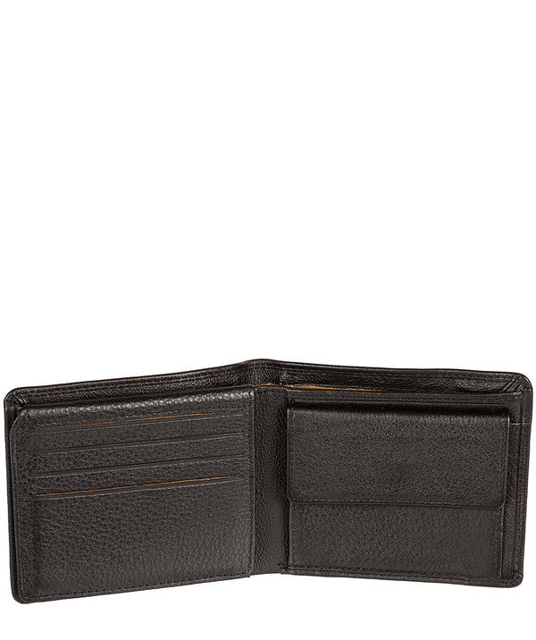'Fowey' Black Natural Leather Wallet