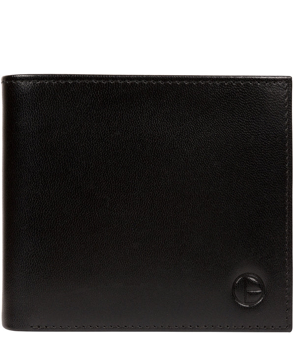 'Soloman' Black Leather Bi-Fold Wallet image 1