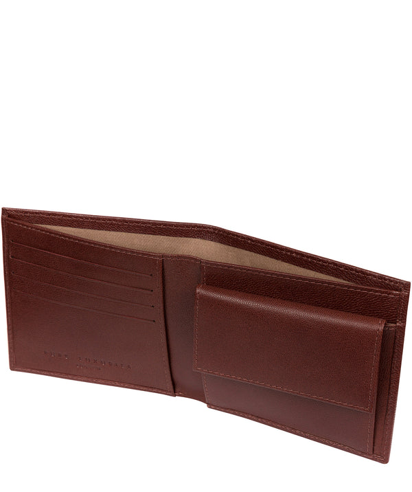 'Soloman' Brown Leather Bi-Fold Wallet image 3