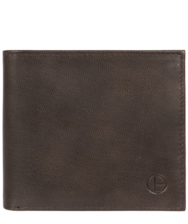 'Soloman' Vintage Black Leather Bi-Fold Wallet image 1