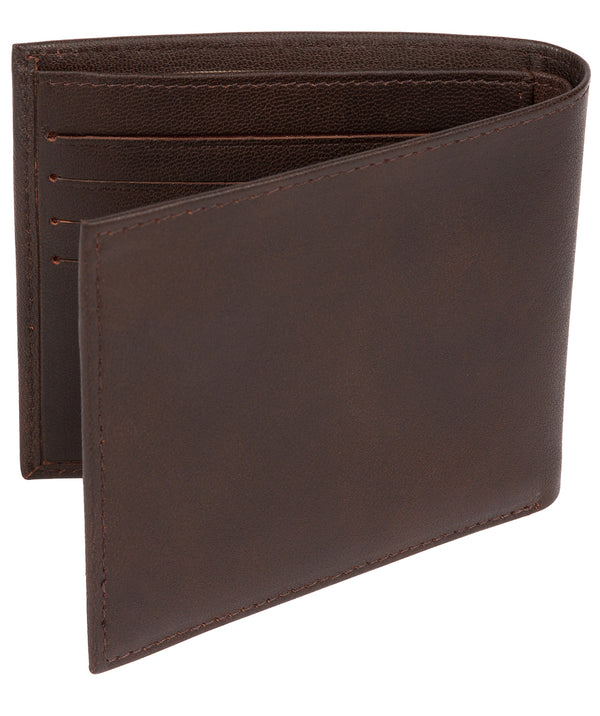 'Soloman' Vintage Brown Leather Bi-Fold Wallet image 3