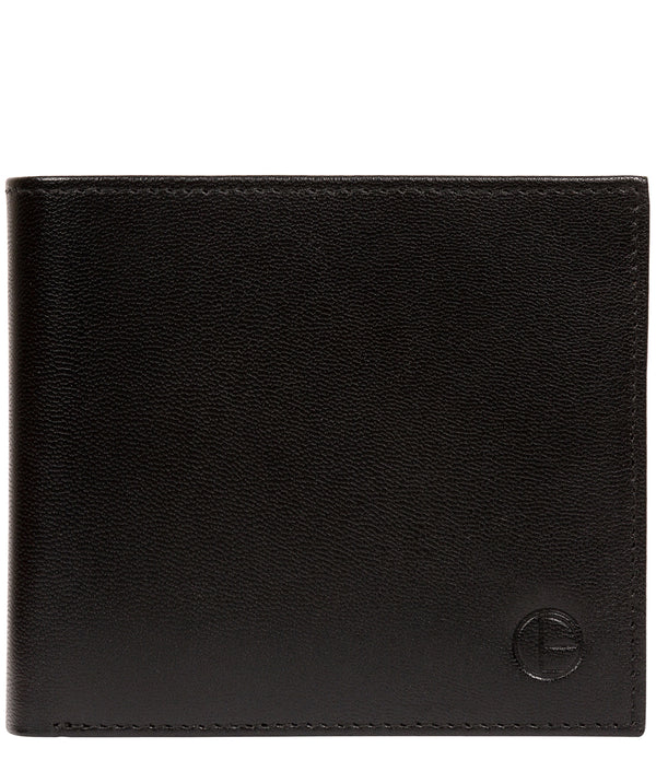 'Reynold' Black Leather Bi-Fold Wallet image 1