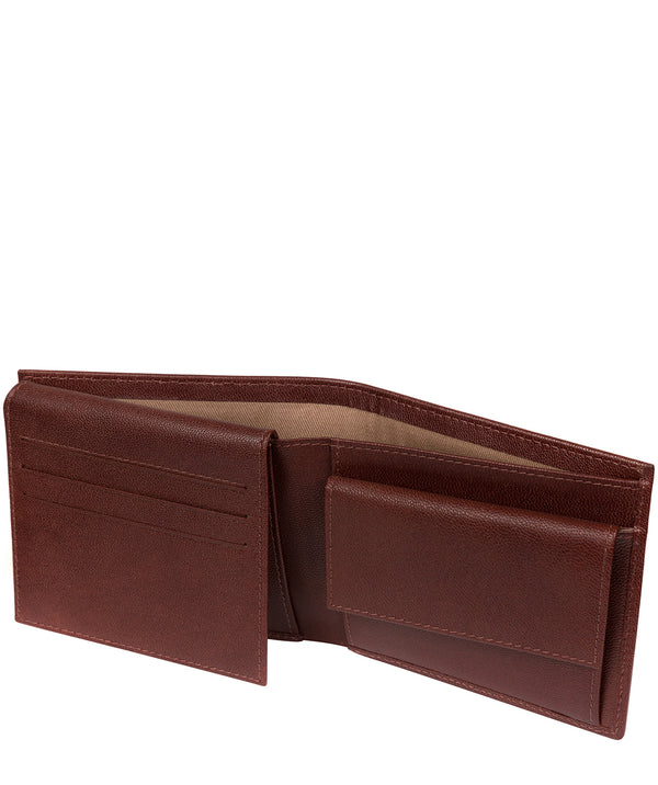 'Reynold' Brown Leather Bi-Fold Wallet image 3
