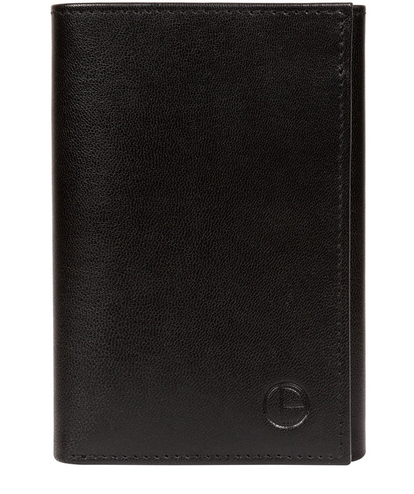 'Oliver' Black Leather Credit Card Wallet