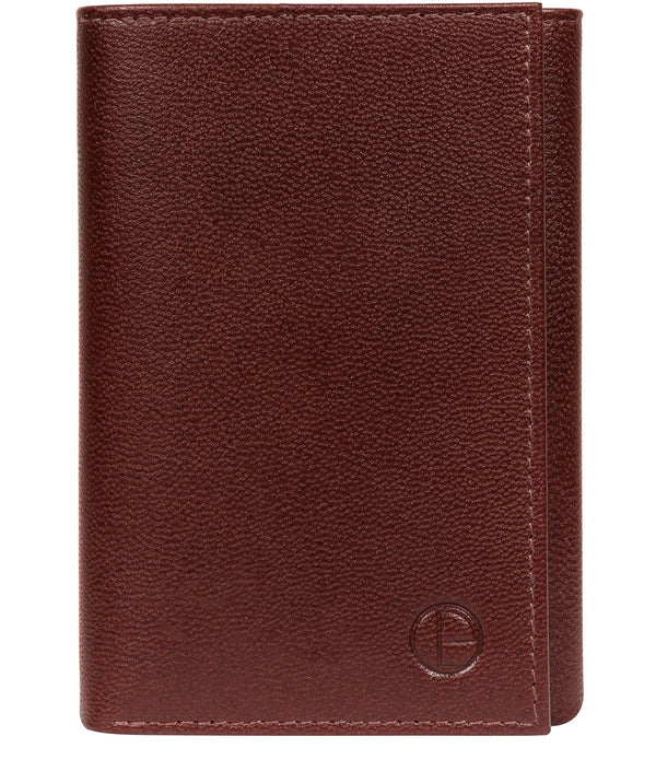 ''Oliver' Brown Leather Credit Card Wallet image 1