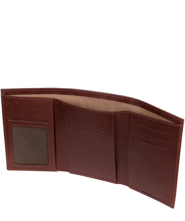 ''Oliver' Brown Leather Credit Card Wallet image 3