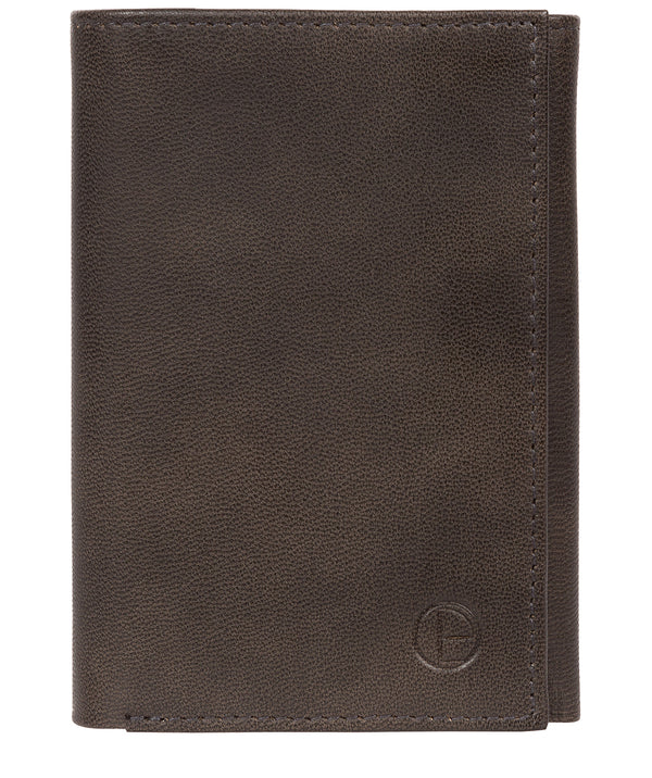 'Oliver' Vintage Black Leather Credit Card Wallet image 1