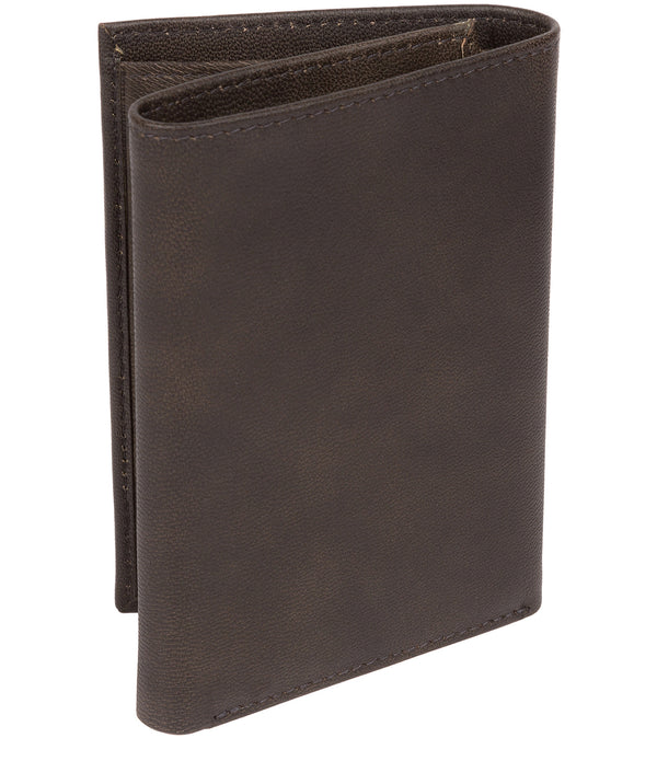 'Oliver' Vintage Black Leather Credit Card Wallet image 3
