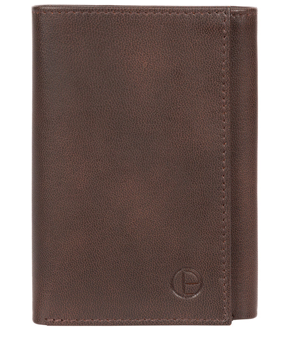 'Oliver' Vintage Brown Leather Credit Card Wallet image 1