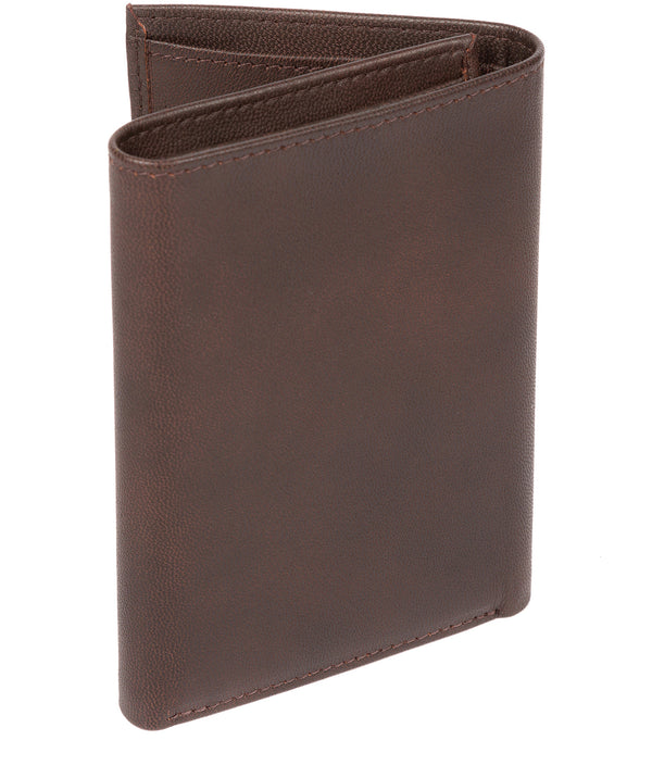 'Oliver' Vintage Brown Leather Credit Card Wallet image 3