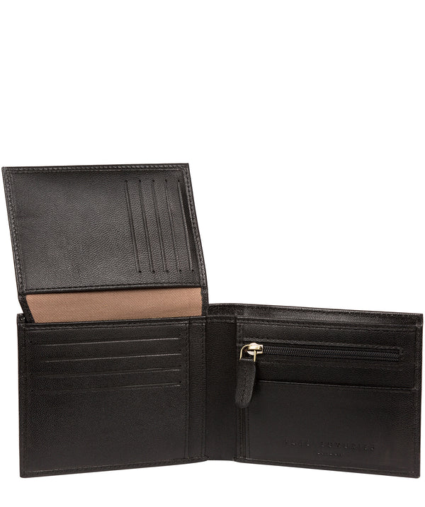 'Irving' Black Leather Wallet image 3