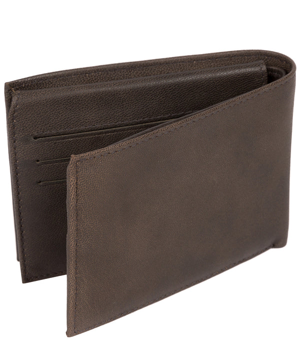 'Irving' Vintage Black Leather Wallet image 3